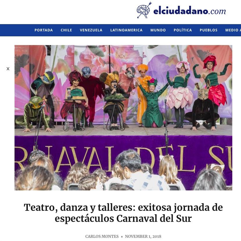 Teatro, danza y talleres: exitosa jornada de espectáculos Carnaval del Sur