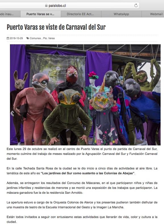 Puerto Varas se viste de Carnaval del Sur