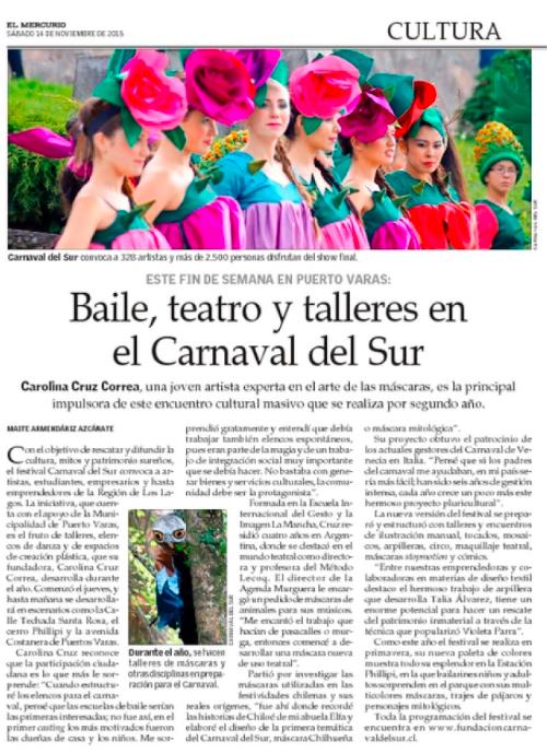 Baila, teatro y talleres en Carnaval del Sur