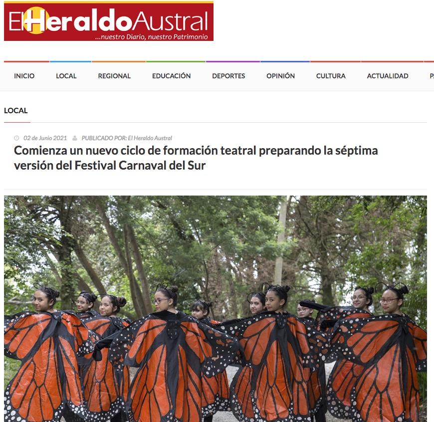 Comienza un nuevo ciclo de formación teatral preparando la séptima versión del Festival Carnaval del Sur