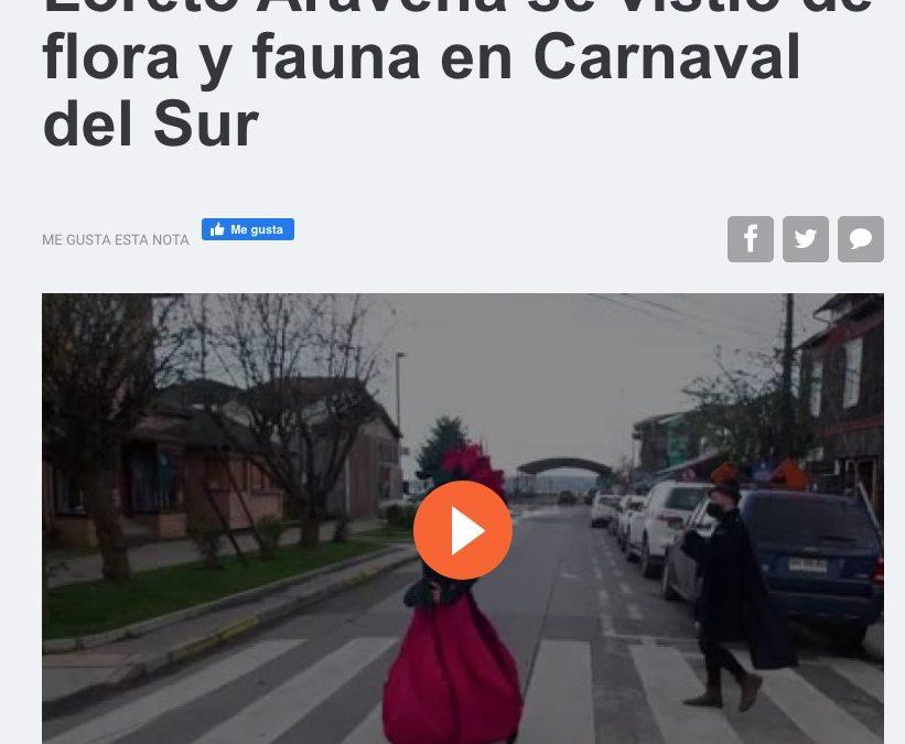 Loreto Aravena se vistió de flora y fauna en Carnaval del Sur