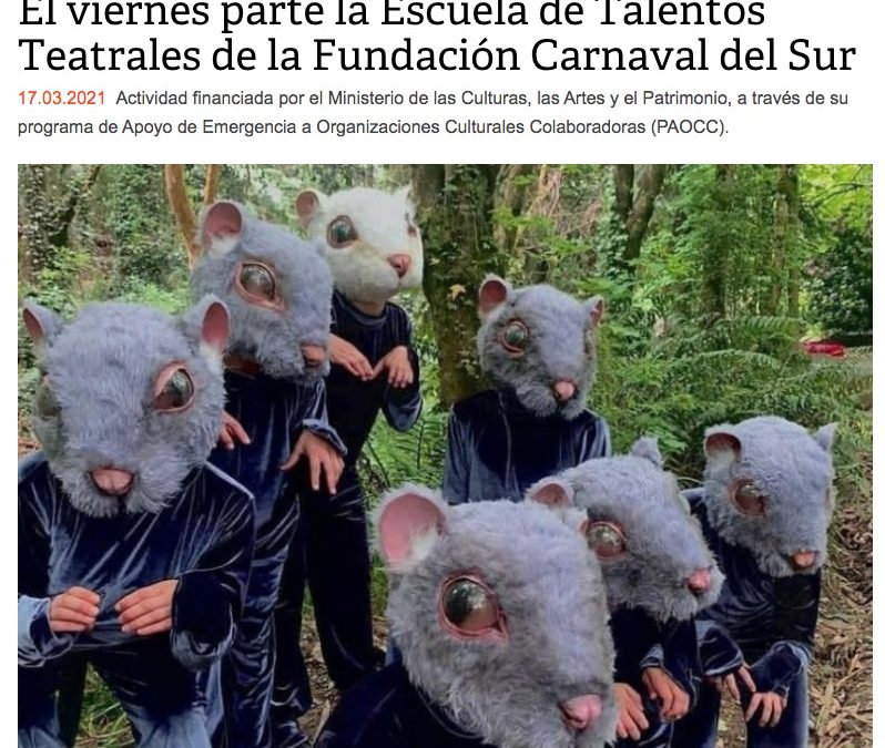 El viernes parte la Escuela de Talentos Teatrales de la Fundación Carnaval del Sur