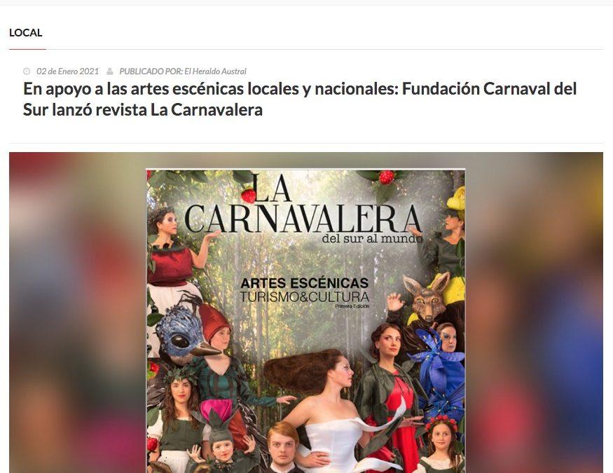 En apoyo a las artes escénicas locales y nacionales: Fundación Carnaval del Sur lanzó revista La Carnavalera