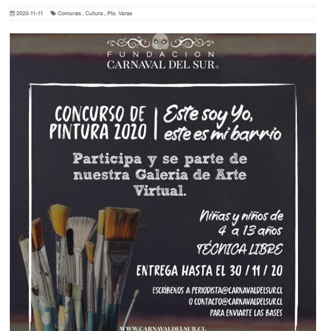 """Carnaval del Sur lanza concurso de pintura """"Este soy yo, este es mi barrio"""""""