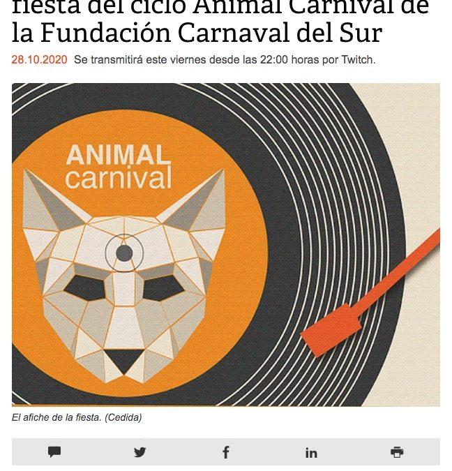 Djs de Ecuador animarán cuarta fiesta del ciclo Animal Carnival de la Fundación Carnaval del Sur